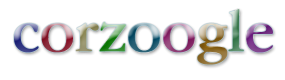 logo for corzoogle;  the fast real-time personal search engine from corz.org